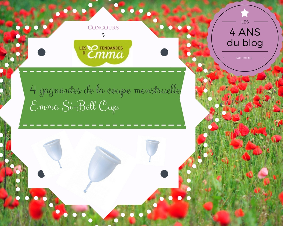 concours gratuit gagner coupe Tendance Emma menstruelle cup Si-Bell