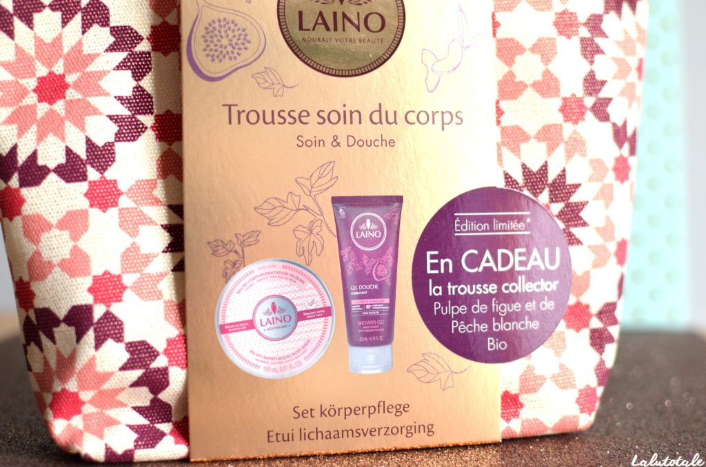 Laino trousse collector soin corps gel figue baume pêche bio