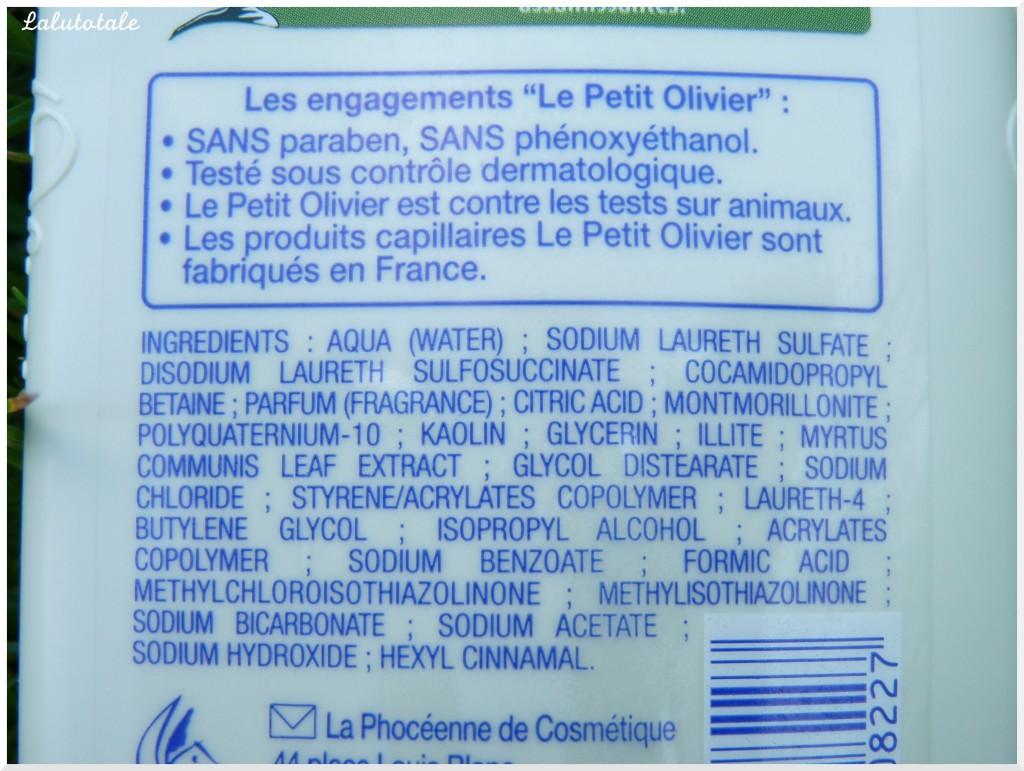 shampooing soin Le Petit Olivier myrte et argile rose