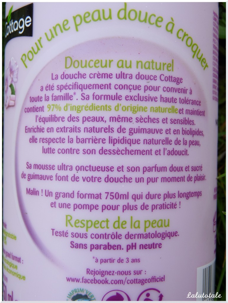 cottage guimauve gel douche crème promesses