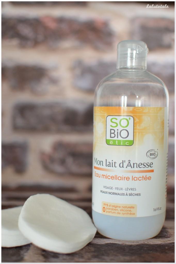 So'bio Etic eau micellaire lactée mon lait d'ânesse