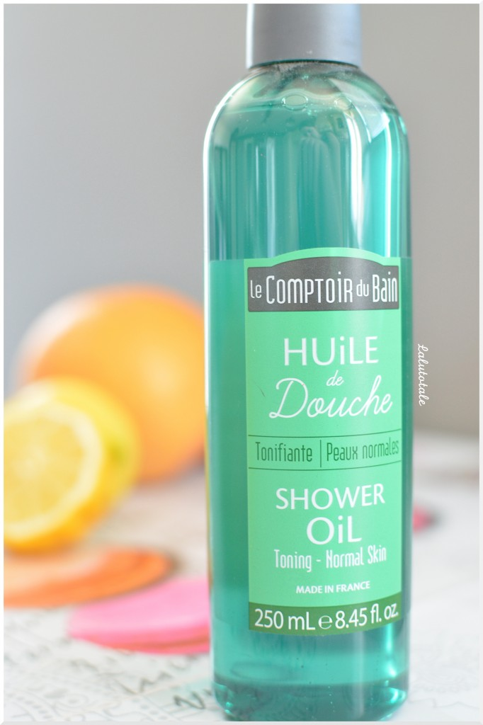 Huile douche tonifiante le Comptoir du Bain