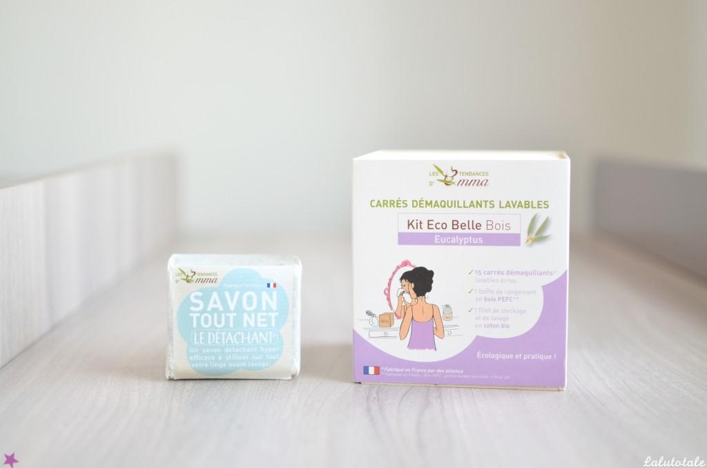 haul boîte à lettres partenaires partenariats été 2015 cadeaux tests tendances d'emma savon tout net kit eco belle bois