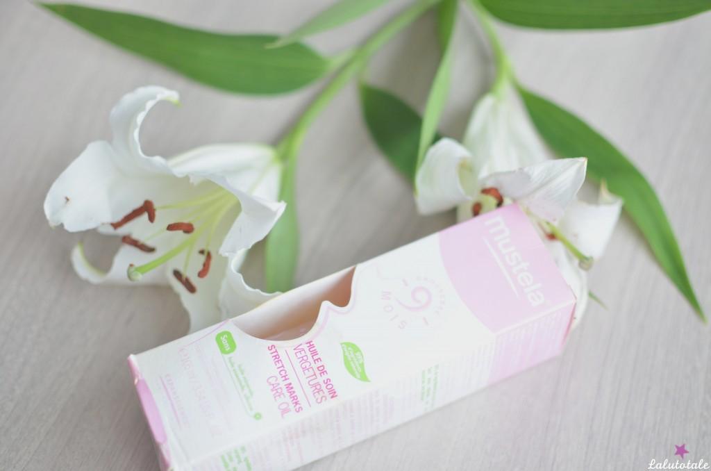 Huile soin vergetures Mustela grossesse 9 mois enceinte peau