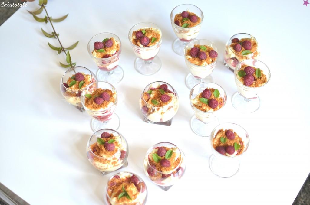 verrines tiramisu variante recette spéculoos dessert framboises mascarpone facile rapide