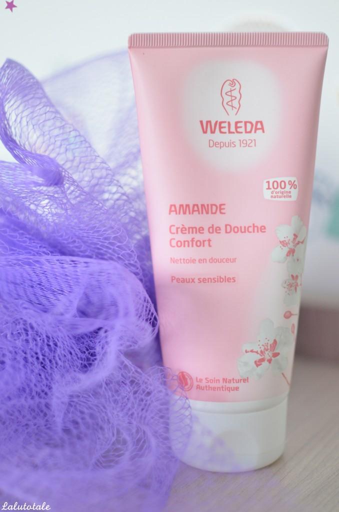 Review crème douche confort amande WELEDA