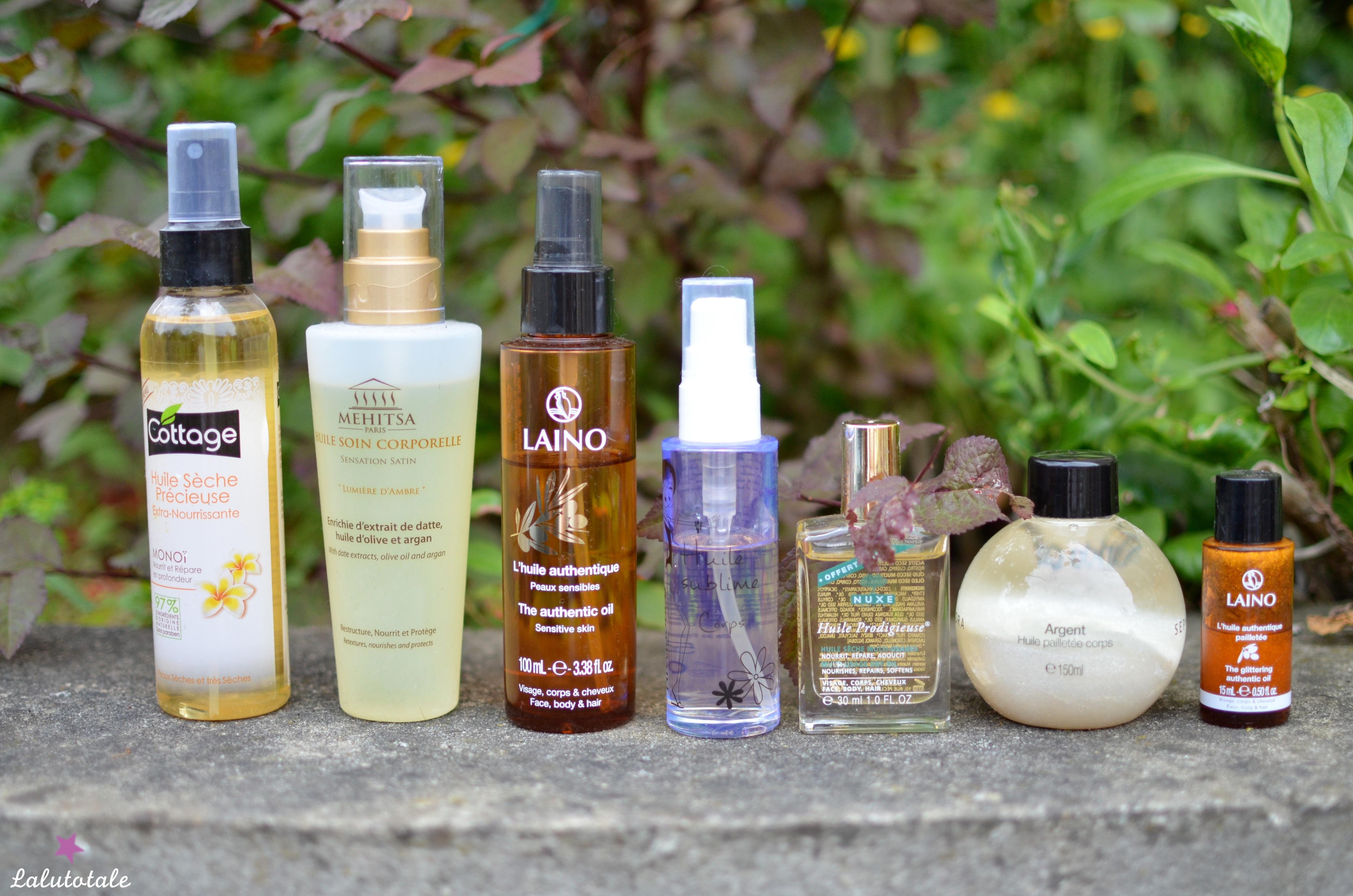 ( 2015 ) METS DE L'HUILE : Ma sélection d'huiles corporelles