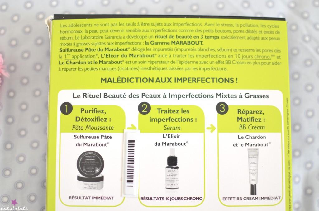 review garancia cure express 10 jours Marabout sérum BB cream pâte nettoyante
