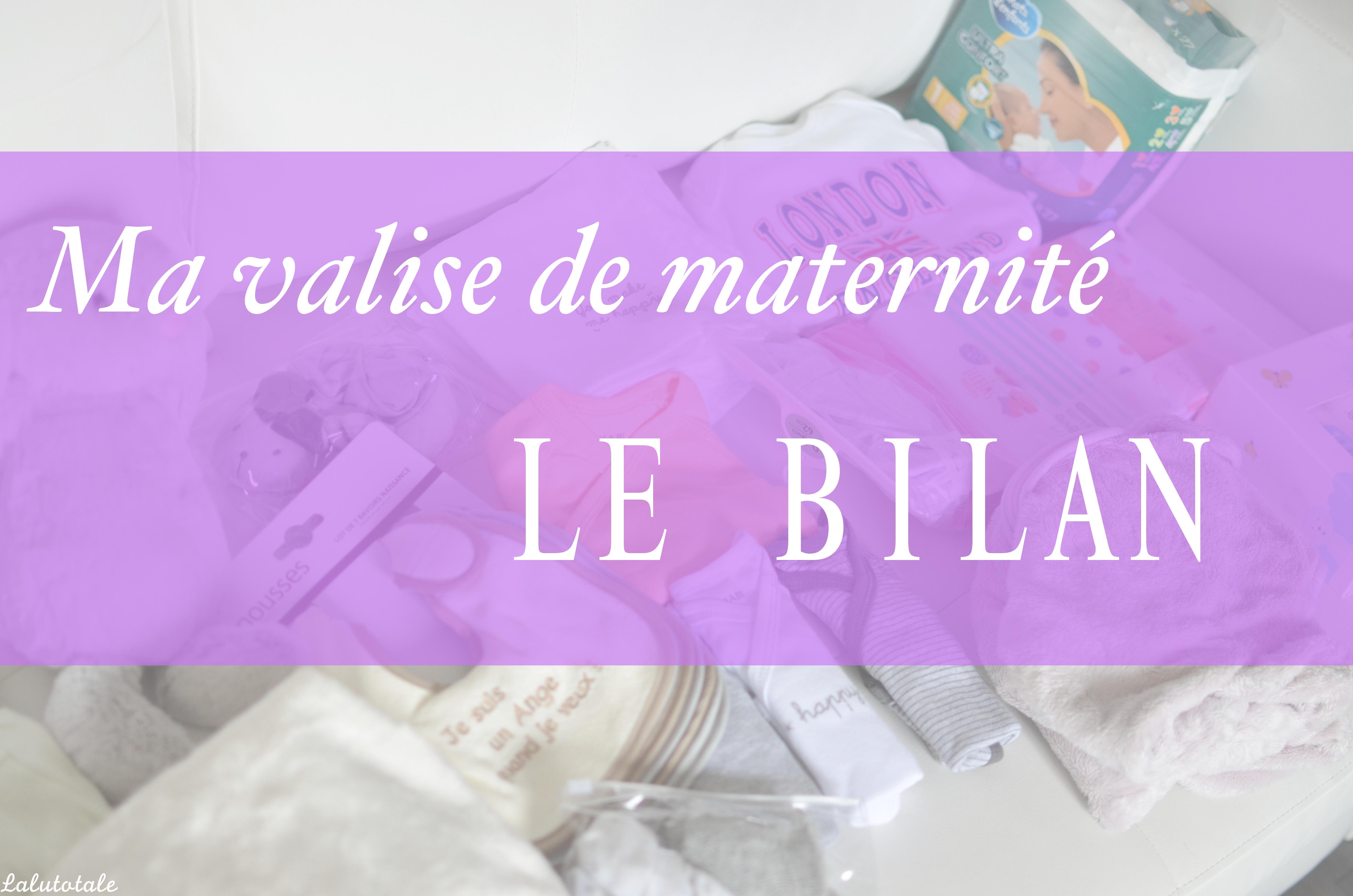 indispensable valise maternité