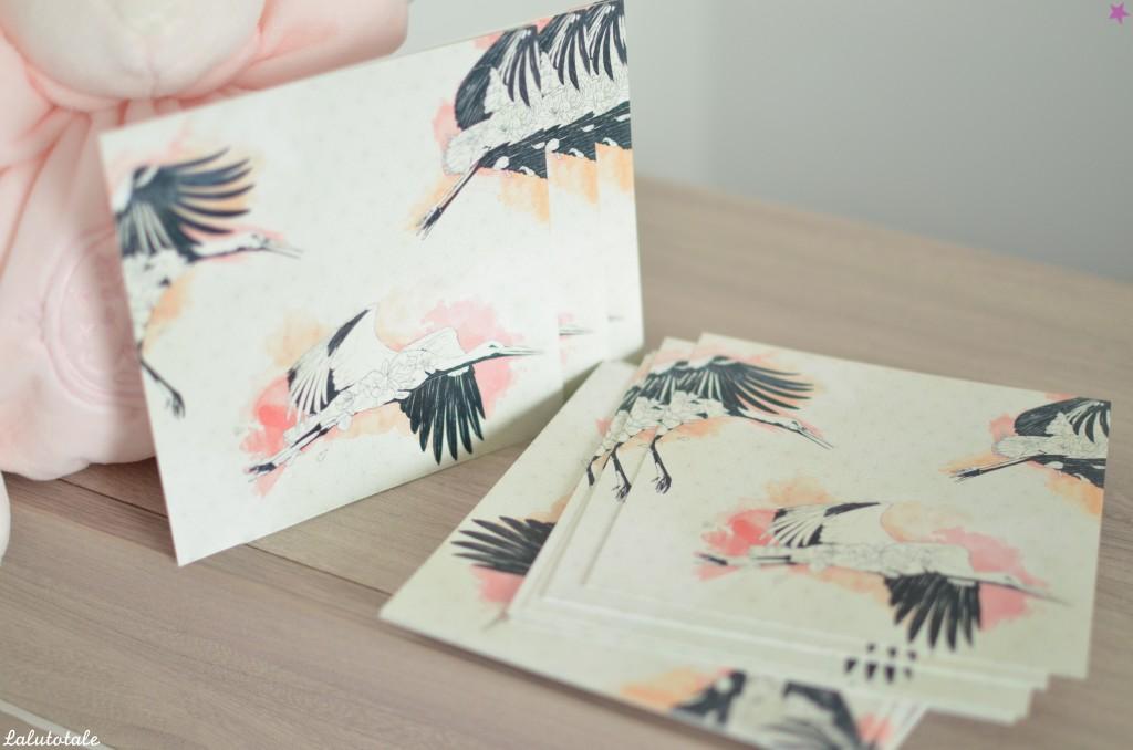 faire-part naissance ArteBaby original Envolées cigognes