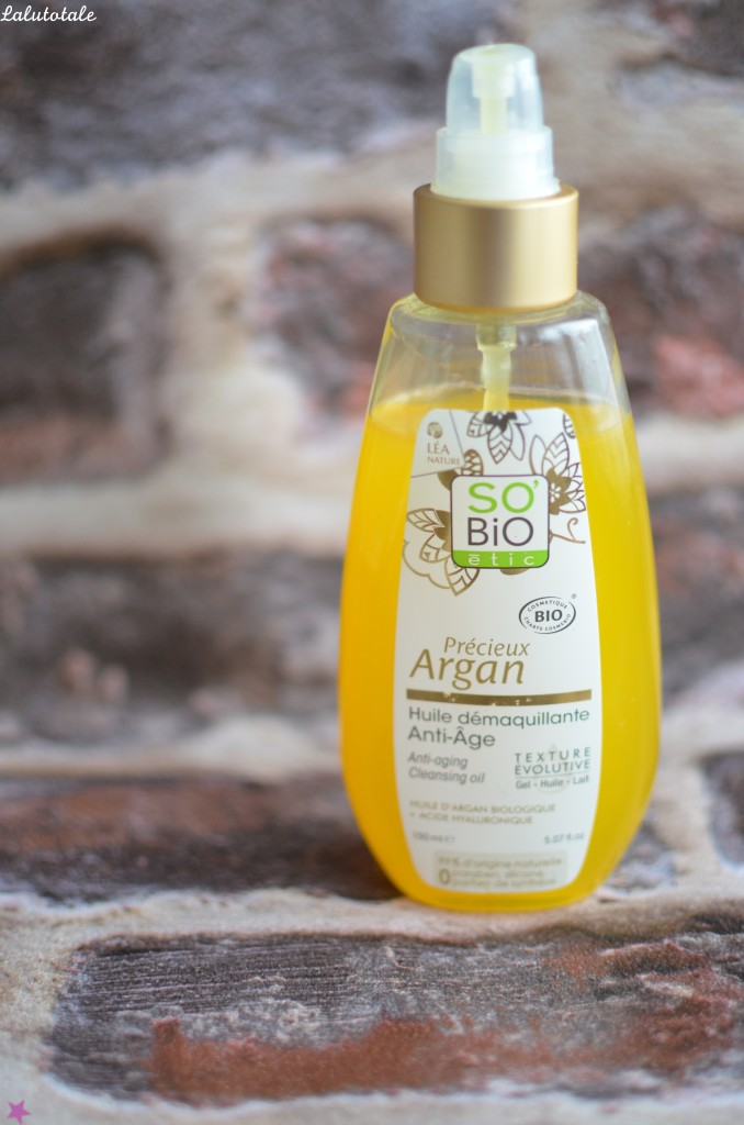 review revue huile démaquillante So'Bio Etic biologique Précieux Argan