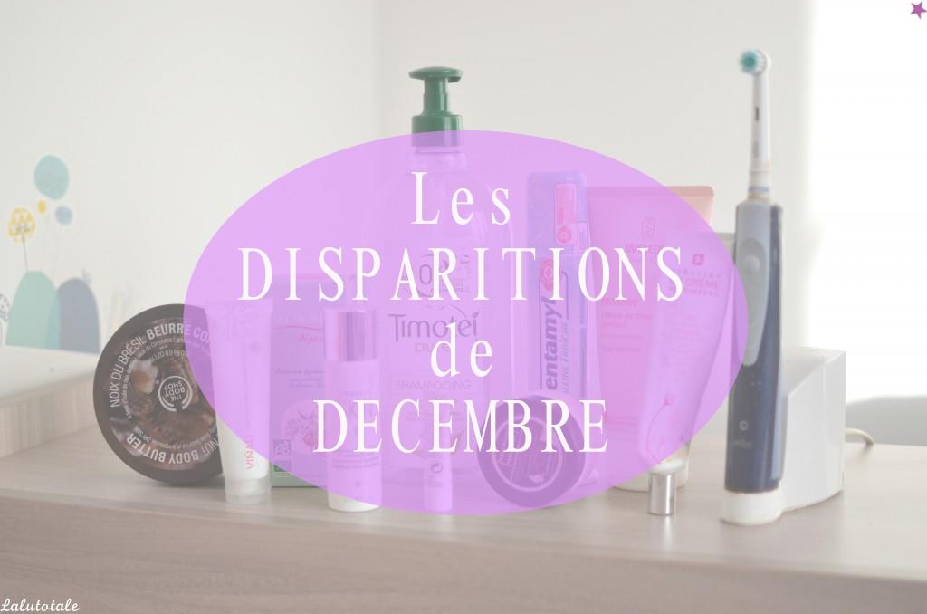Disparitions décembre beauté produits