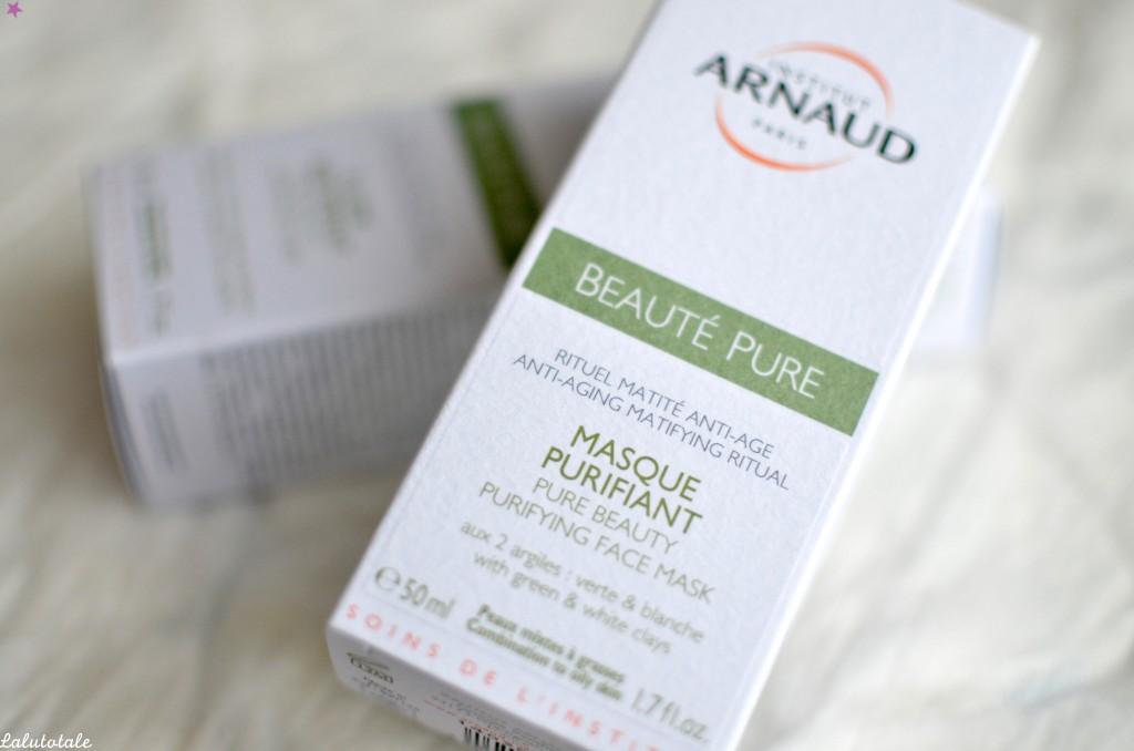 Institut Arnaud routine rituel peaux mixtes grasses beauté pure