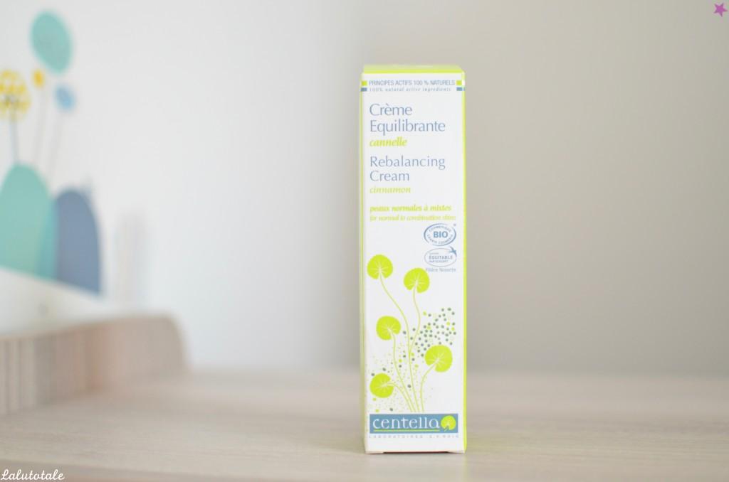 Centella crème équilibrante cannelle peaux mixtes