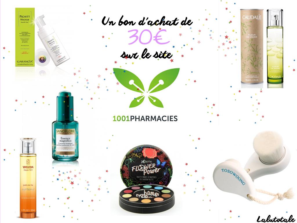 1001Pharmacies 3 ans blog blogueuse anniversaire Lalutotale concours gratuit parapharmacie bon d'achat 1001pharmacies
