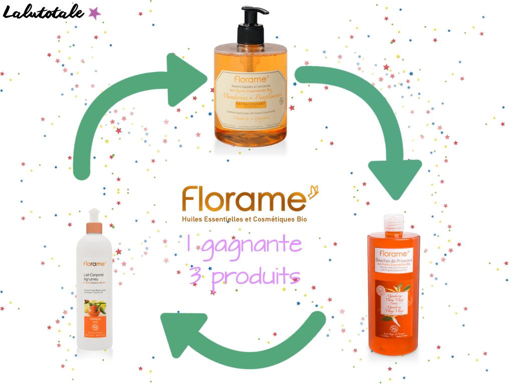 anniversaire blog Lalutotale 3 ans concours Florame bio