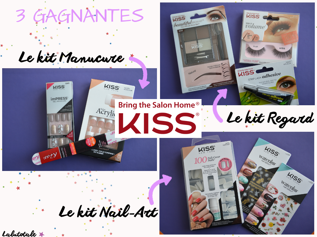 Kiss new-york lot ongles IMPress manucure nail art regard 3 ans blog blogueuse anniversaire Lalutotale concours gratuit