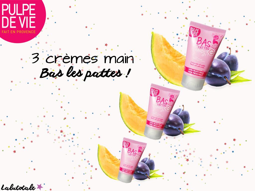 Pulpe de Vie crème mains bas les pattes 3 ans blog blogueuse anniversaire Lalutotale concours gratuit