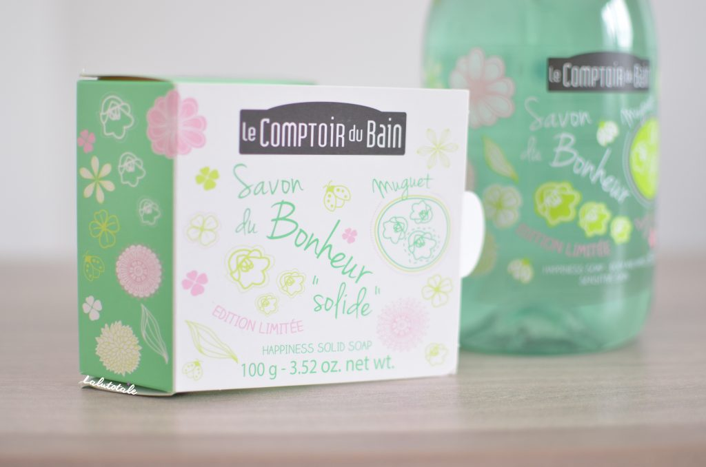 Le Comptoir du Bain savon gel douche liquide bonheur muguet