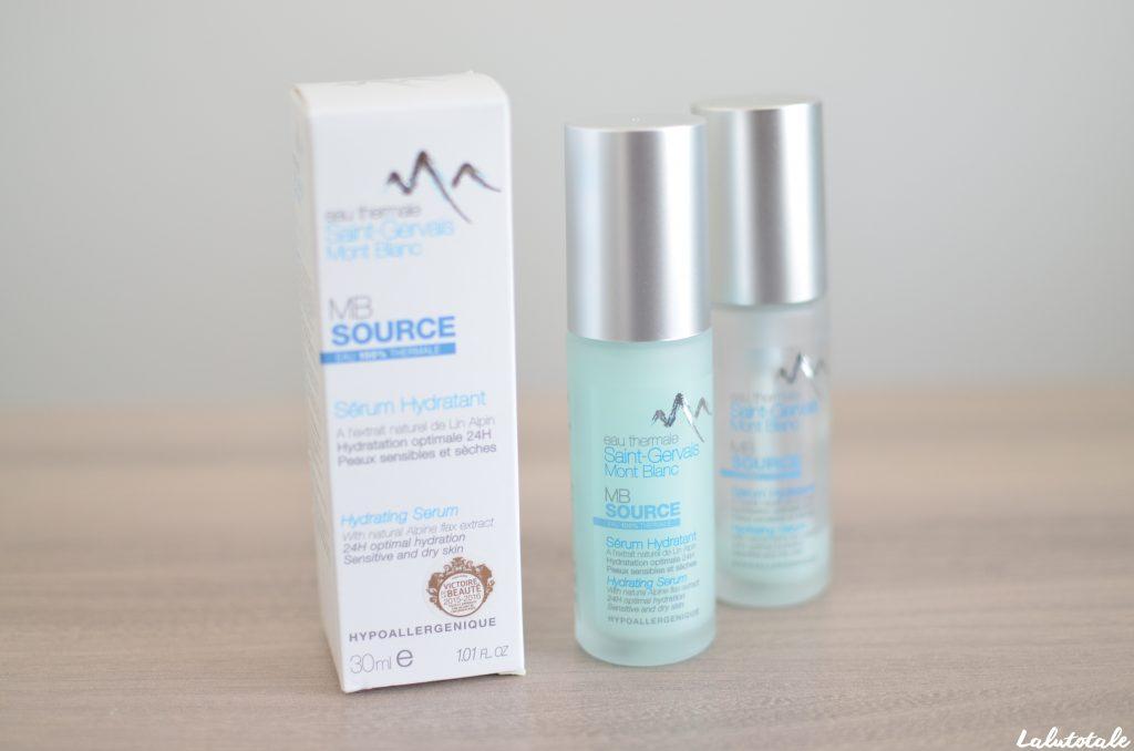 MB Source sérum hydratant Saint Gervais Mont Blanc beauté soin visage