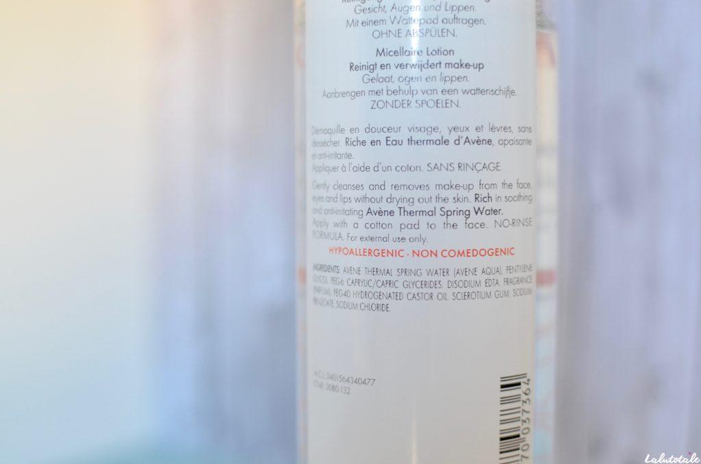 Avène beauté eau lotion micellaire sensible