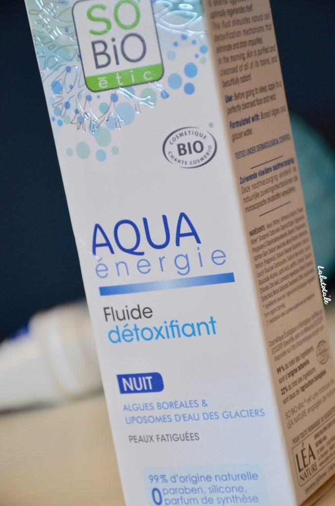 So'Bio Etic Aqua énergie fluide détoxifiant nuit algues glaciers