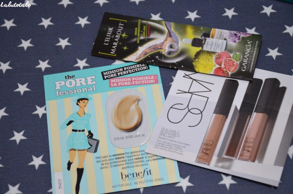 haul boite lettres produits cosmétiques novembre décembre automne hiver