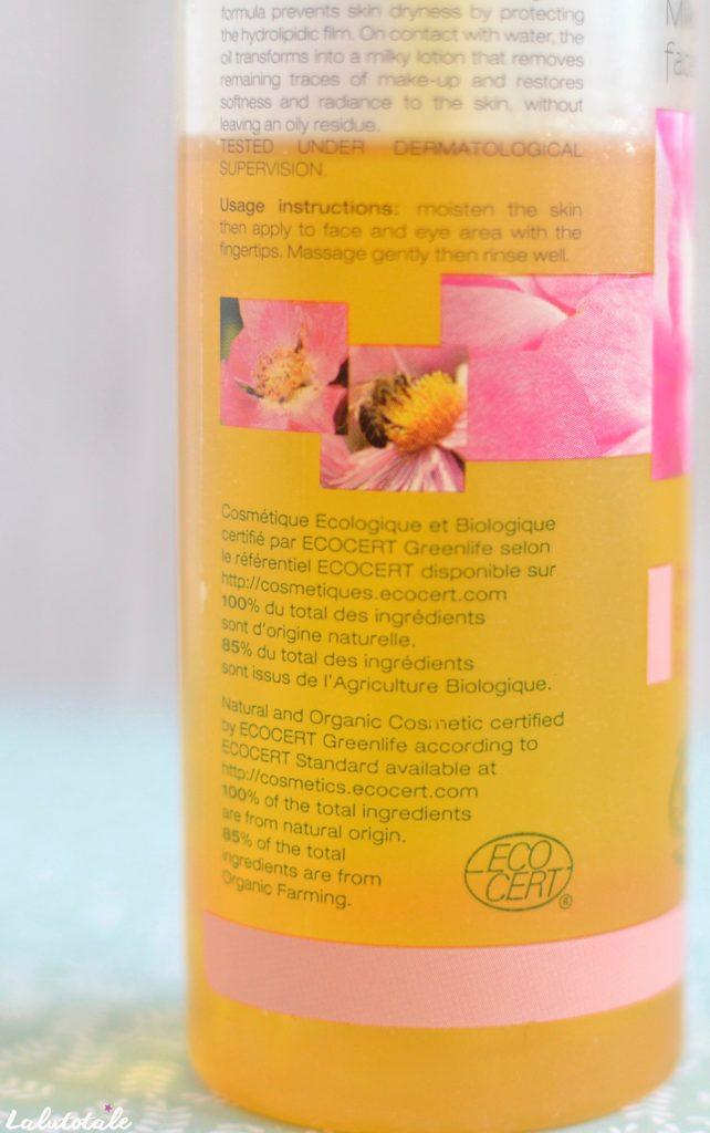 Melvita huile lactée démaquillante nectar roses visage yeux