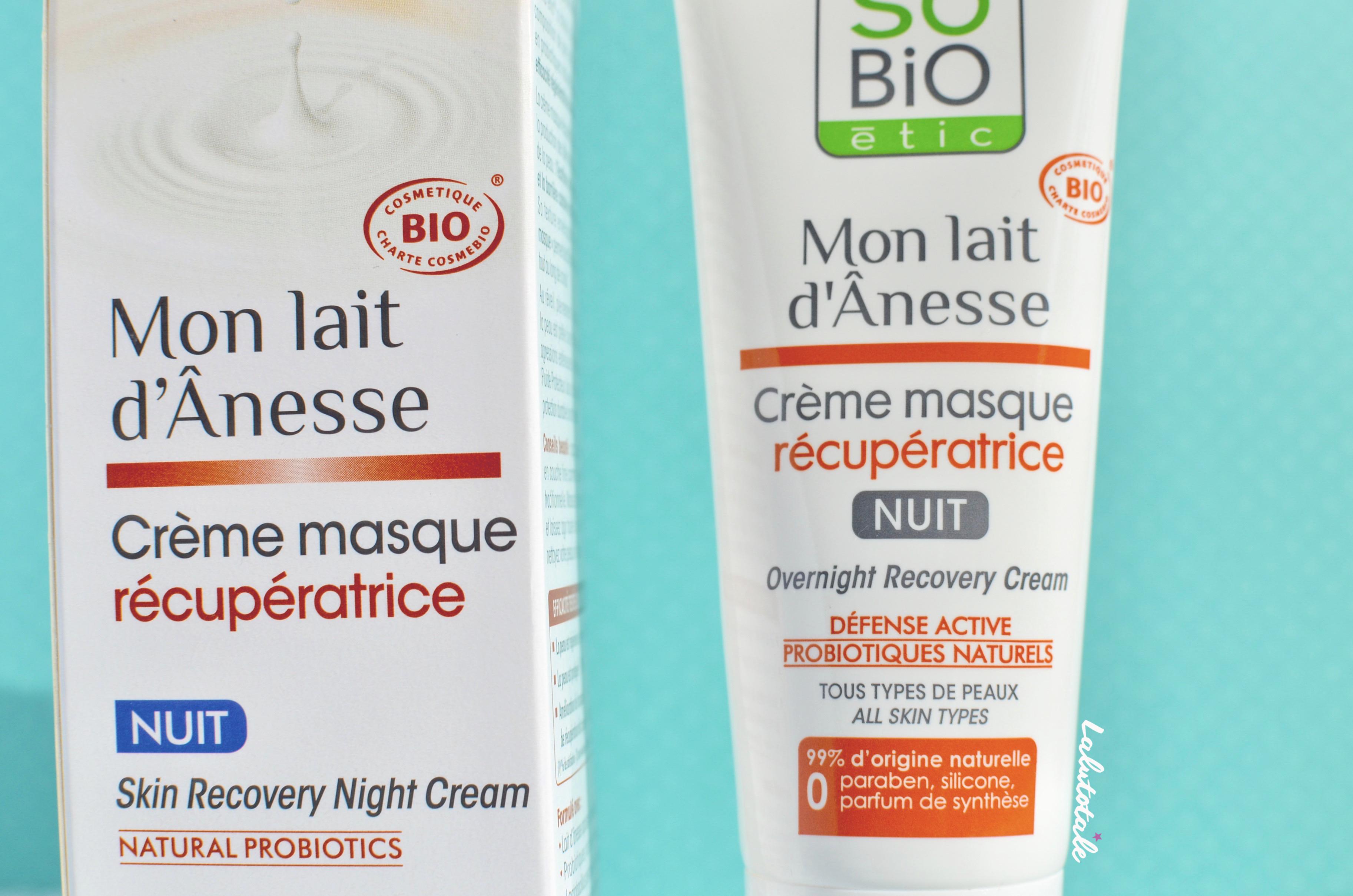 ( So'Bio Etic ) Une crème-masque pour que ma peau récupère la nuit : vraiment ?