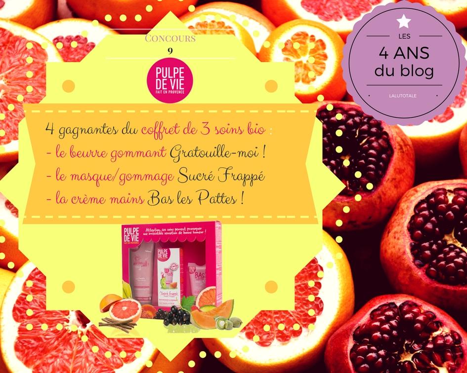 Pulpe de Vie concours cosmétique bio française soin corps visage coffret