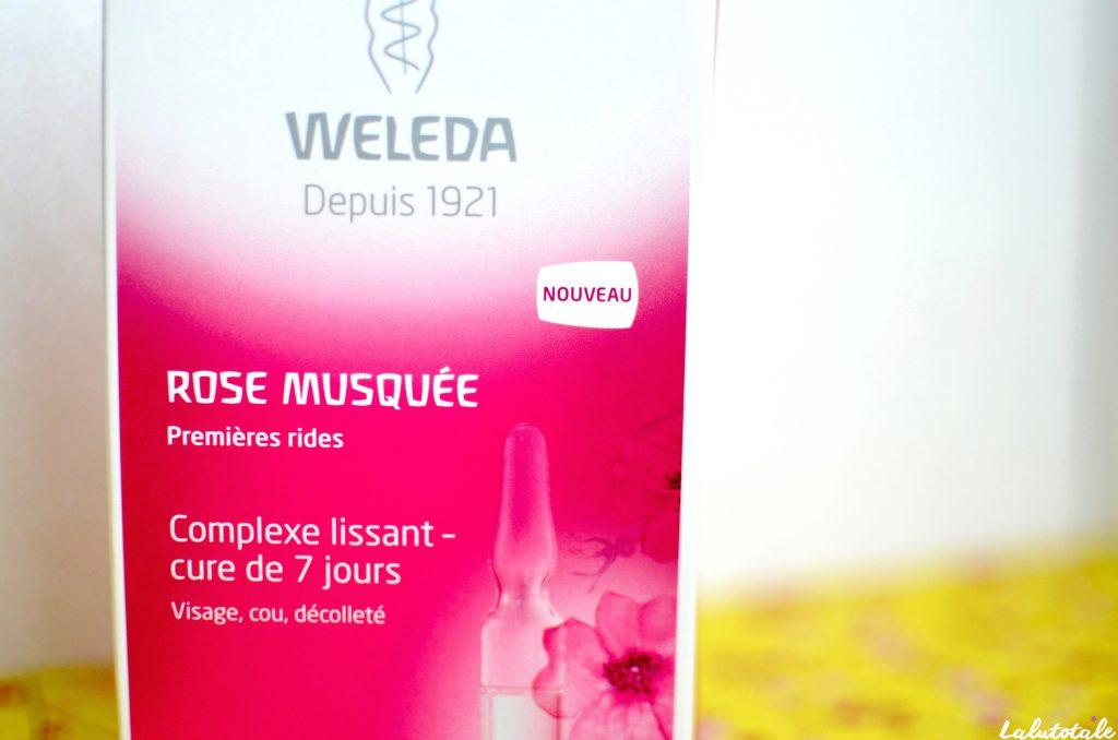 Weleda cure 7 jours visage soin rose musquée complexe lissant premières rides