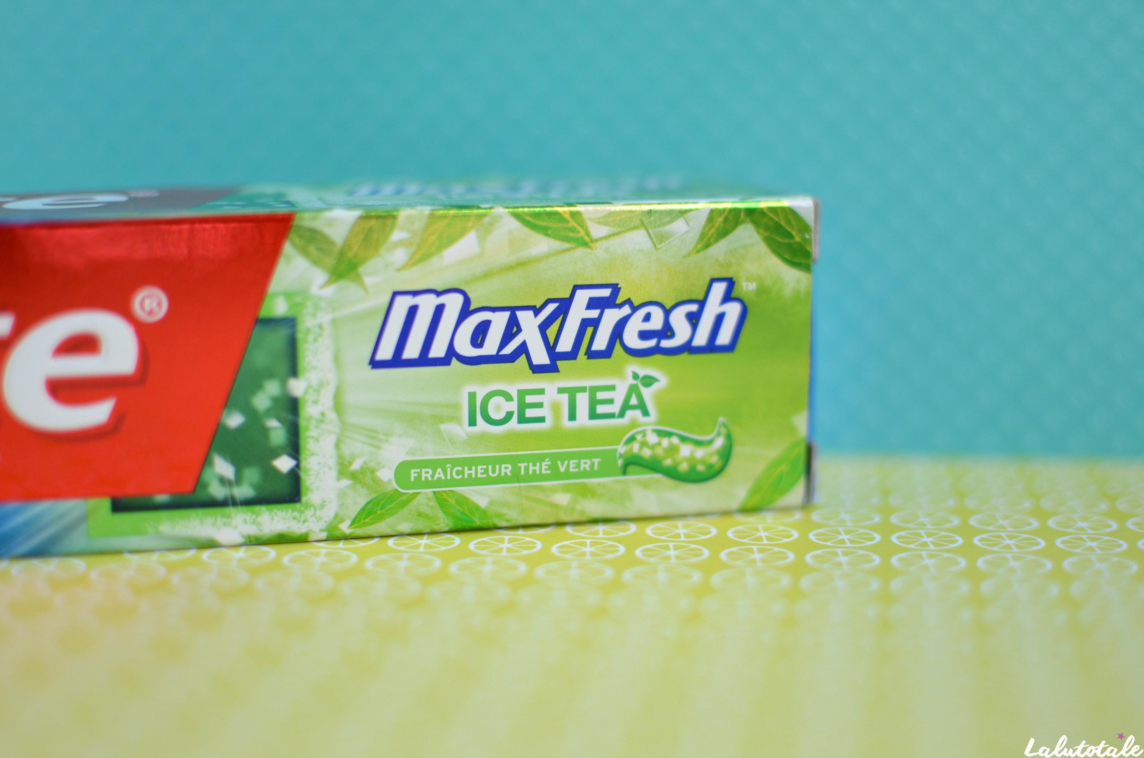 ( COLGATE ) L'article qui te tient en haleine, ou le nouveau Maxfresh au thé vert.