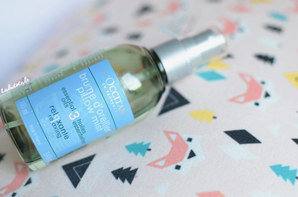 L'occitane brume oreiller huiles essentielles relaxante Aromachologie