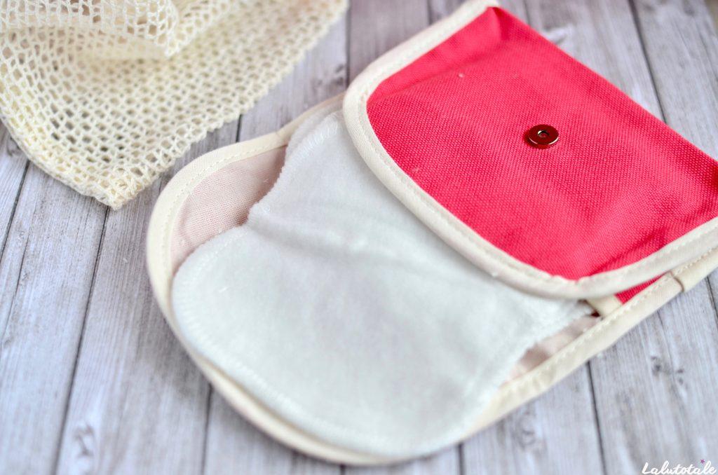 Tendances d'Emma kit Ecobelle nomade mères édition limitée carrés démaquillants lavables