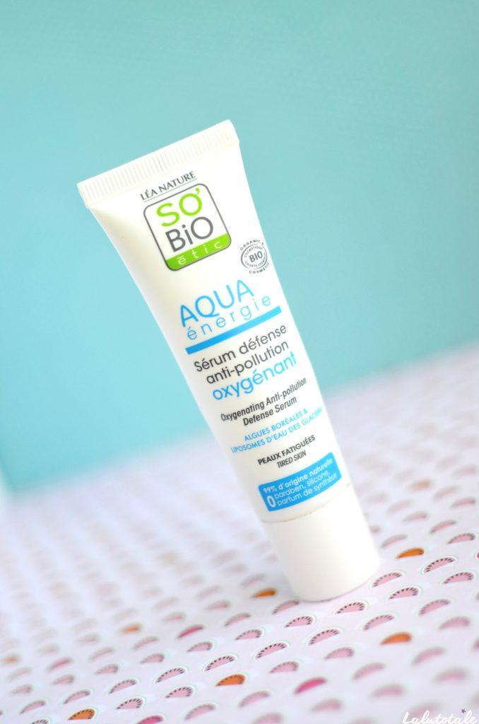 So'Bio Etic sérum défense antipollution oxygénant Aqua energie