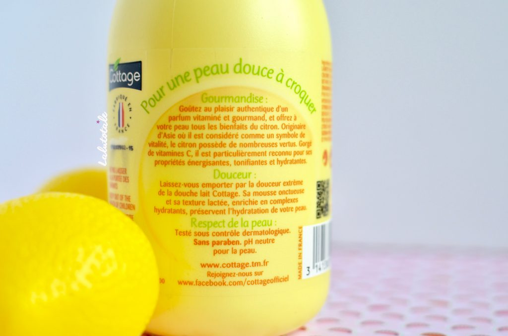 cottage lait gel douche citron gourmand nouveau