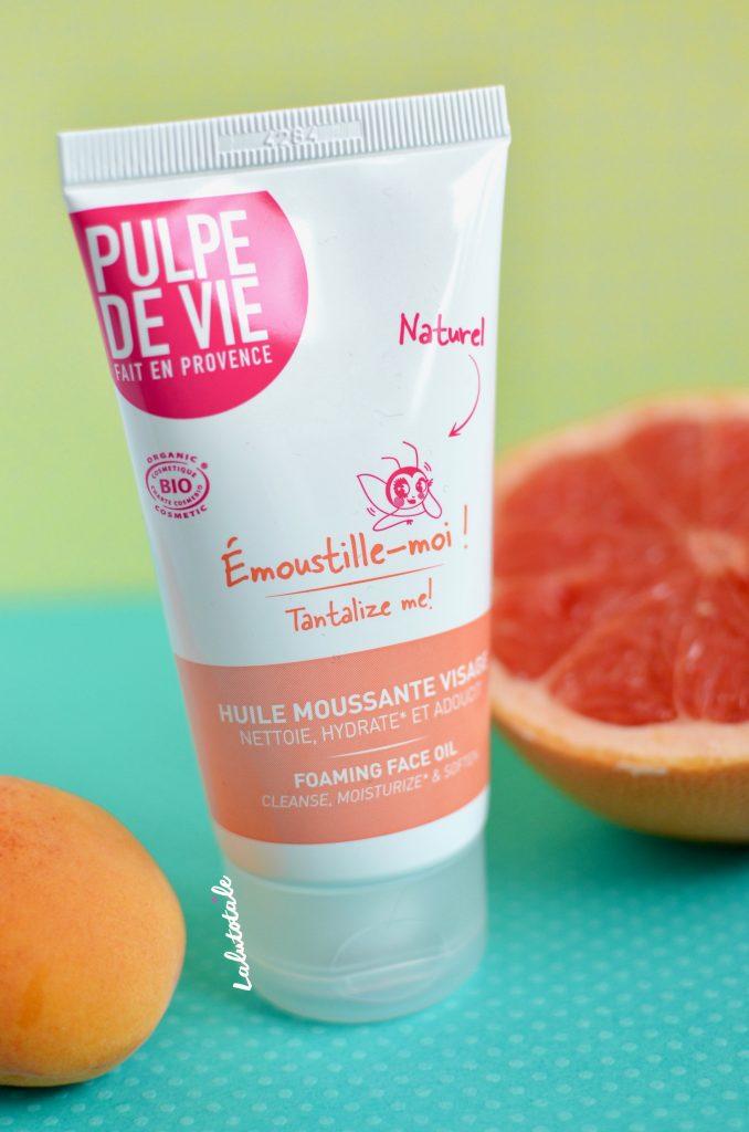 Pulpe de Vie bio huile moussante visage nettoyant Emoustille - moi !