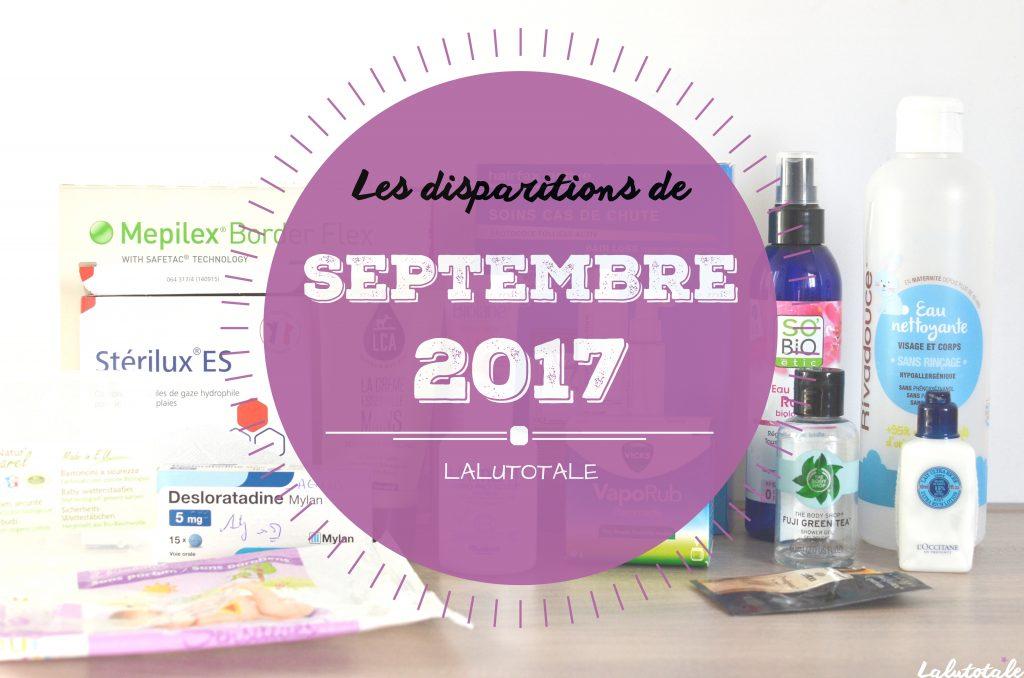 disparitions produits beauté cosmétos septembre 2017