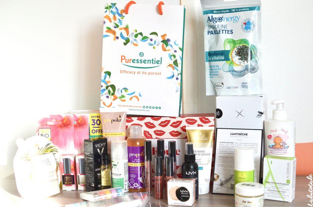 haul boite lettres produits cosmétiques septembre beauté