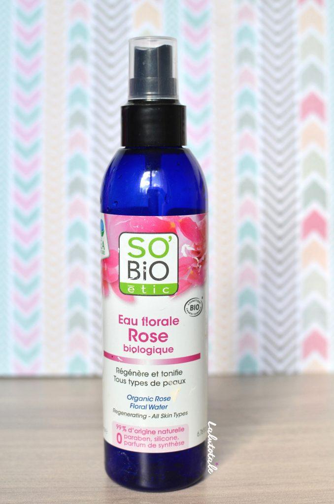 So'bio Etic eau florale rose biologique visage soin