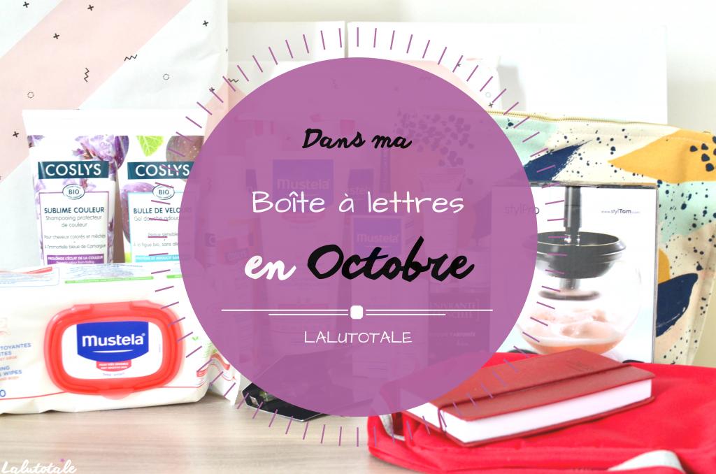 haul boite lettres produits cosmétiques octobre beauté