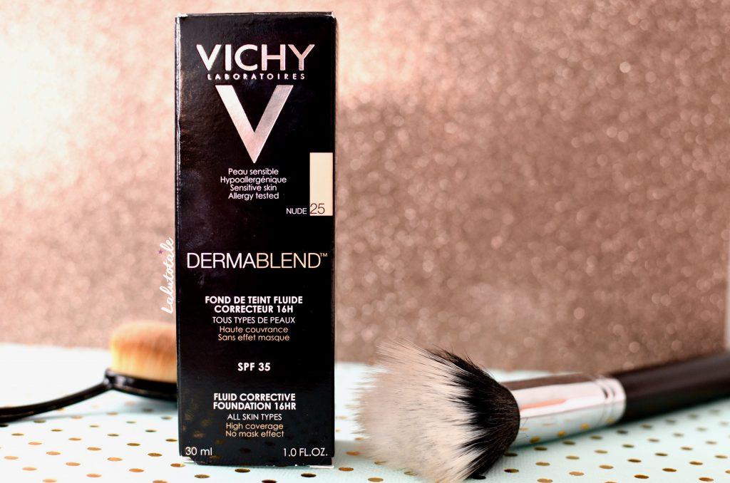 Vichy Dermablend visage fond teint couvrance avant après