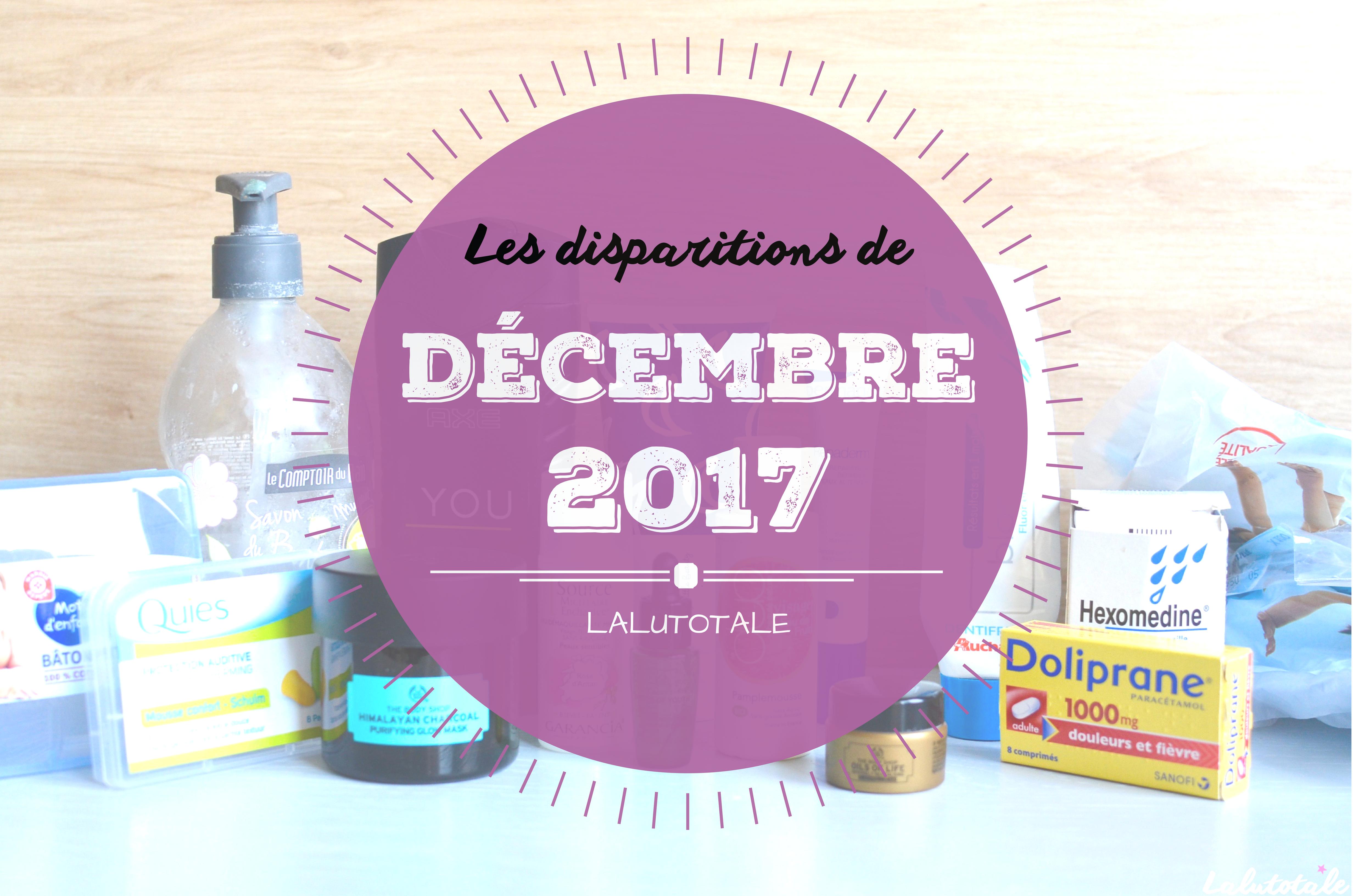 ✞ Les disparitions de Décembre 2017 ✞