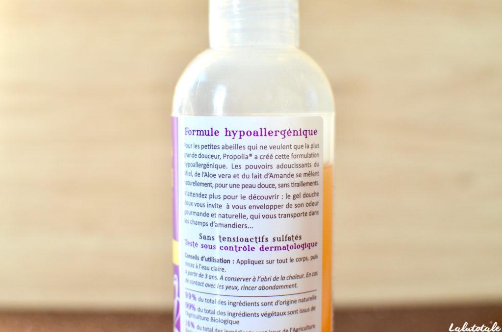 Propolia gel douche doux miel amande dans ma bulle