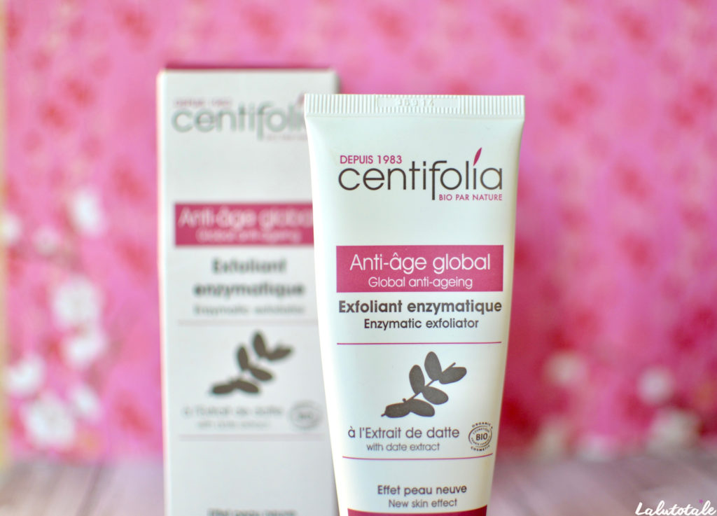 centifolia gommage exfoliant enzymatique datte anti-âge global peeling