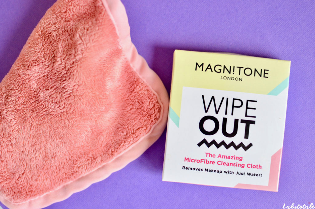 lingette microfibre démaquillant Magnitone Wipe Out cleansing cloth