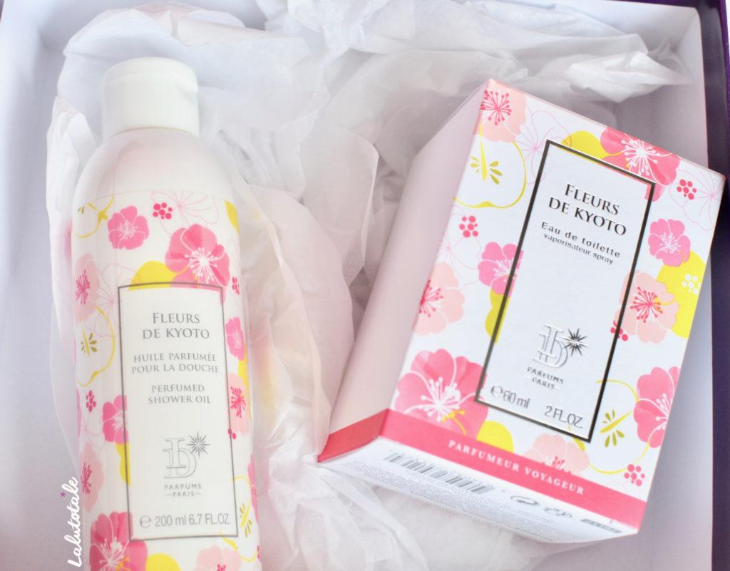 pierre ricaud parfum fleurs kyoto huile douche coffret fête mères