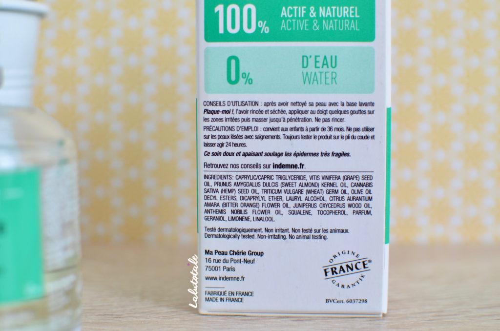 Indemne antisèche lotion anti-irritante enfants huile beauté