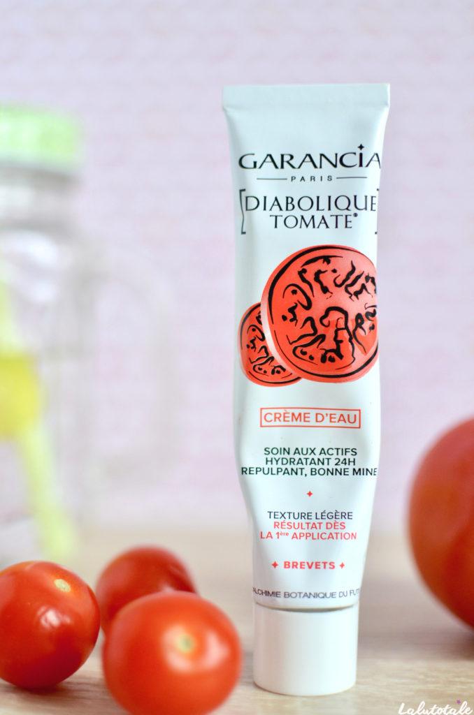 Garancia diabolique tomate crème eau hydratante beauté