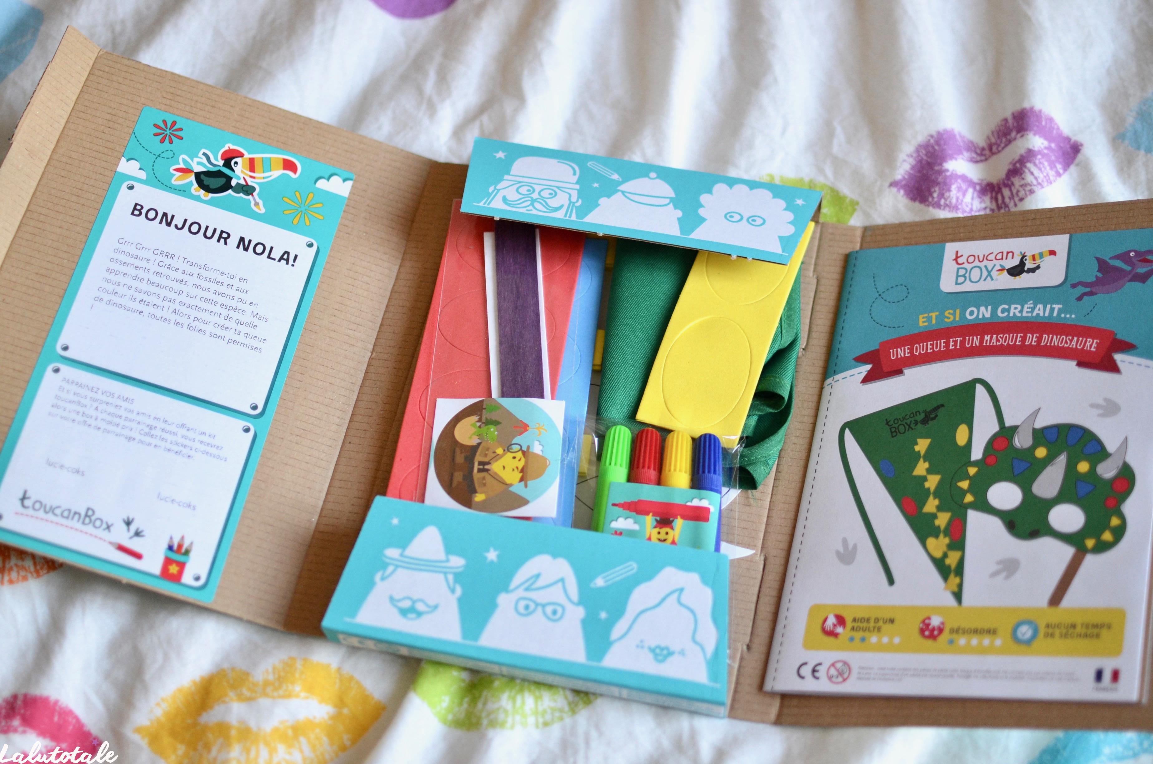 ( Toucanbox ) LaLutine se transforme en dino avec sa box d'activités créatives ! 🦖